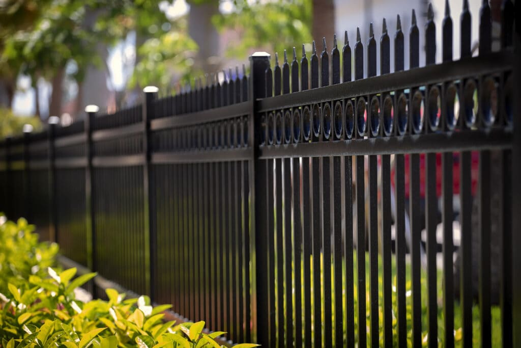 a metal physical fence that's wonderfully decorative too!