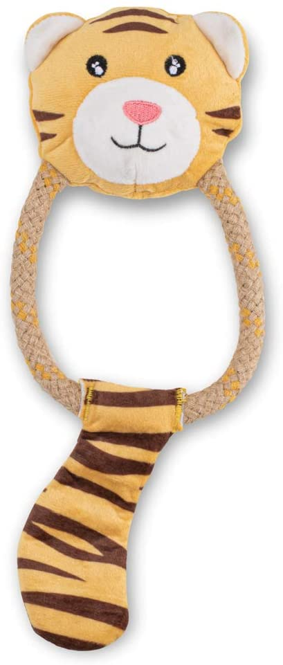 beco hemp rope tiger toy for puppies puppy toys