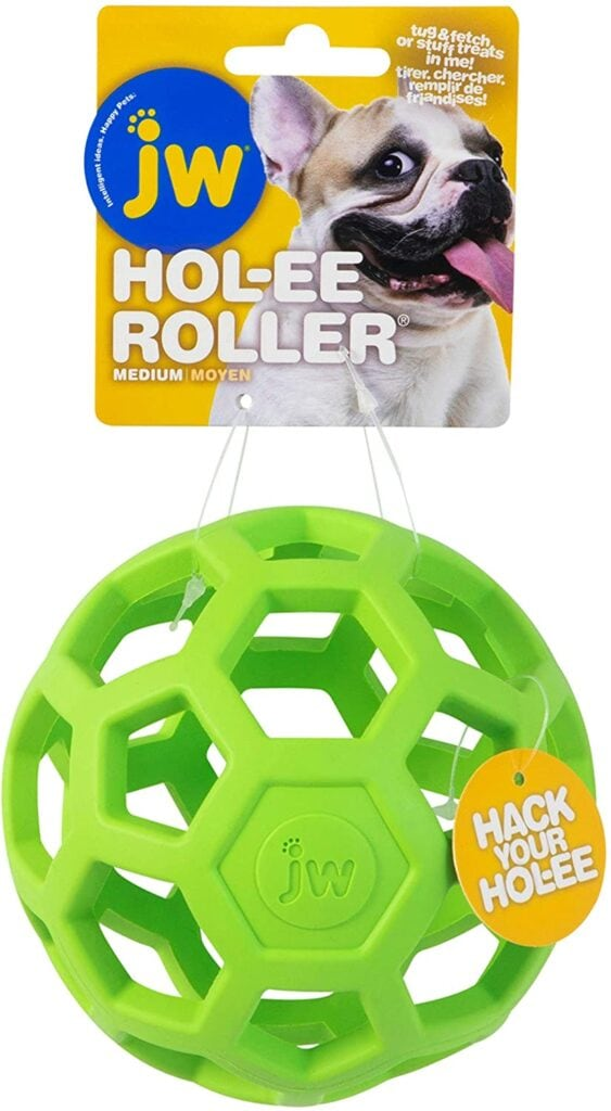 hollee roller ball - great for setting up enriching games - particularly for pups who like to destroy!