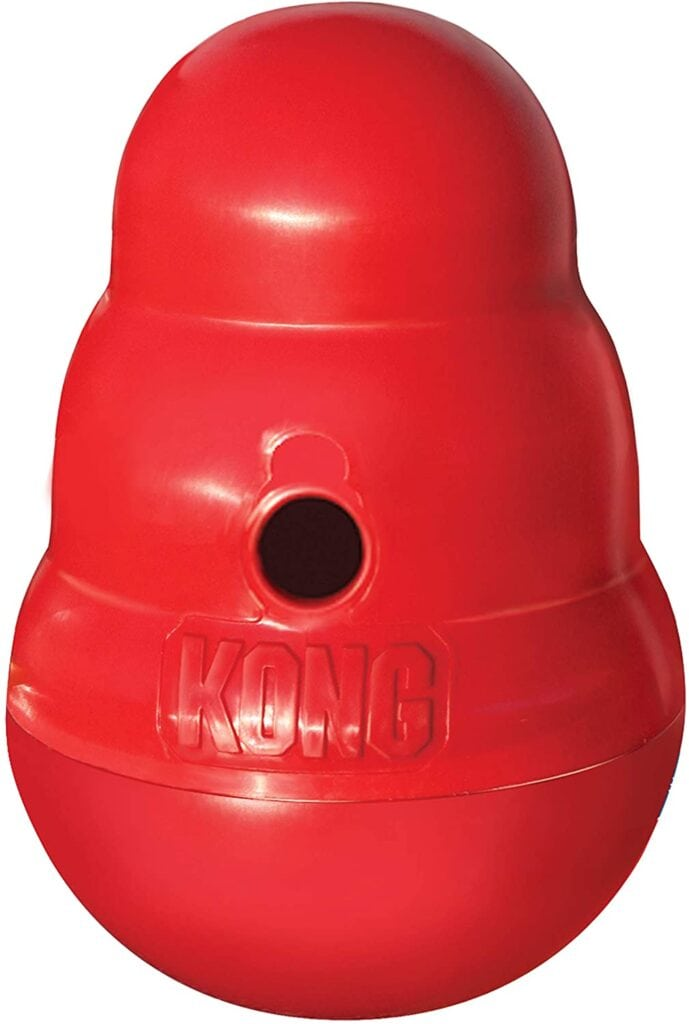 for interactive feeding, or slow feeding wobblers are great for the kibble fed pup!