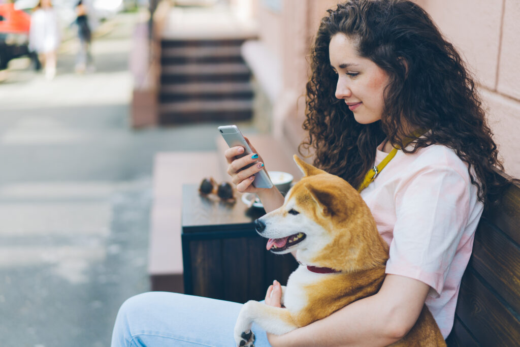 a non-professional dog walker might just sit around the corner on their phone...